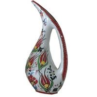 Bk Samur Kırmızı Pelikan Vazo