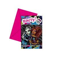 KullanAtMarket Monster High Davetiye 6 Adet