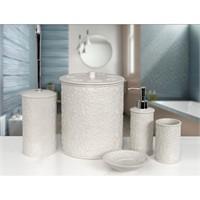 Serenıty Banyo Aksesuarları Beyaz, Aksesuar Set 5 Parça