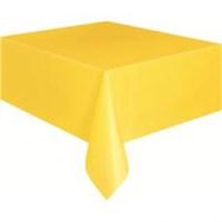Parti Şöleni Sarı Masa Örtüsü 1 Adet ' 120X180cm