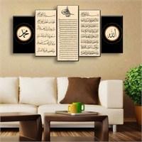 Canvastablom Dini Dekoratif 5 Parçalı Kanvas Tablo