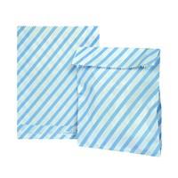 Kullanatmarket Mavi Çizgili Kağıt Şeker Hediye Poşeti 12 Adet