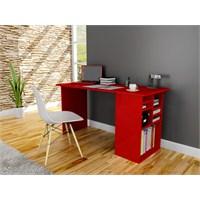 Akasya Bilgisayar ve Çalışma Masası- Kırmızı