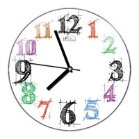 İf Clock Modern Tasarım Duvar Saati