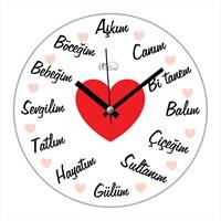 İf Clock Aşk Sevgi Duvar Saati