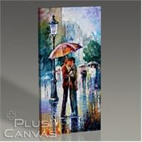 Pluscanvas - Şemsiye, Yağmur Ve Romantizm Tablo