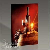 Pluscanvas - Wine And Candle Tablo