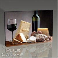 Pluscanvas - Cheese Platter And Wine Tablo
