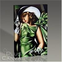 Pluscanvas - Tamara De Lempicka - Green Gloves Tablo