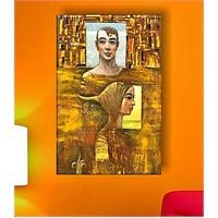 Kadın ve Duvar Dekoratif Kanvas Tablo