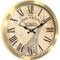 Altın Renkli Paris Hediyelik Duvar Saati