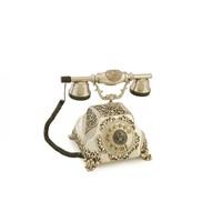 Şehrazat Antik Gümüş Varaklı Telefon