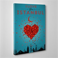 Tabloshop Love Istanbul Kanvas Tablo