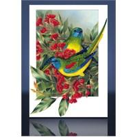 Renkli Papağanlar Kanvas Tablo