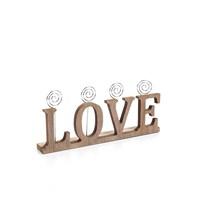 Ahşap Love Yazılı Kartlık