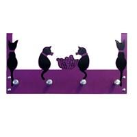 Balkondaki Kediler Kapı Askılığı 3