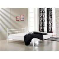 Unimet Lalas Kısa Ayakucu 90 x 200 Metal Karyola Beyaz