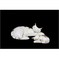 Uyuyan Kedicikler Figürlü Biblo
