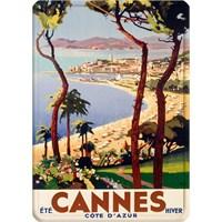 Metal Poster - Cannes - Perı 15X20cm.