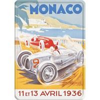 Metal Poster - Monaco 1936 Géo Ham Cp 15X20cm.