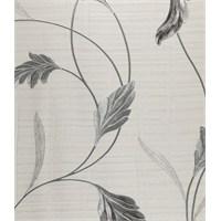 Yaprak Beyaz Gümüş Vınyl Duvar Kaplaması