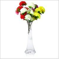 5 Renk Çiçek ve Fil Ayağı 80 cm Cam Vazo