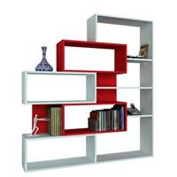 Dekorister Marla Kitaplık Beyaz/Kırmızı