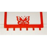 Amerikan Kapı Askısı Kelebek Kırmızı