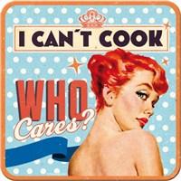 Can't Cook Tekli Bardak Altlığı 9 x 9 cm