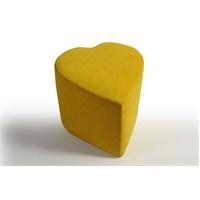 Kalp Puf Sarı