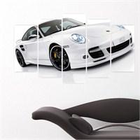 Dekoriza Porsche Araba 5 Parçalı Kanvas Tablo 110X60cm