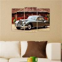 Dekoriza Bentley R Type 1955 Klasik Araba 3 Parçalı Kanvas Tablo 80X50cm