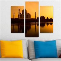Dekoriza Hindistan Taj Mahal 3 Parçalı Kanvas Tablo 95X80cm