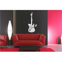 Gitar Dekoratif Duvar Dekoratif Ayna Saati