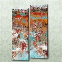 Dekorjinal 2 Li Dikdörtgen Kanvas Tablo Seti Sel043