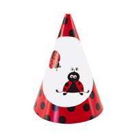 KullanAtMarket Uğur Böceği Partisi Külah Şapka 6 Adet