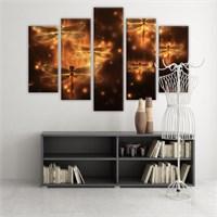 Dekoratif 5 Parçalı Kanvas Tablo-5K-Hb061015-30