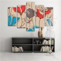 Dekoratif 5 Parçalı Kanvas Tablo-5K-Hb061015-69