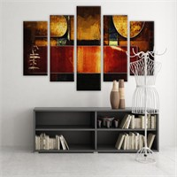 Dekoratif 5 Parçalı Kanvas Tablo-5K-Hb061015-230