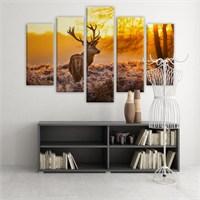 Dekoratif 5 Parçalı Kanvas Tablo-5K-Hb061015-260