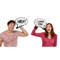 Npw Balloonatıc - Sosyal Ağ Konuşma Balonları - Hey/I Love You