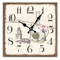 Time Gold Mdf Duvar Saati Kırmızı