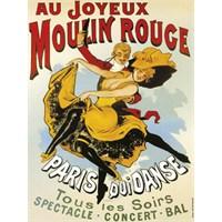 Karton Afiş - Joyeux Moulın Rouge 24 X 32 Cm