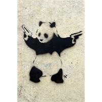 Urbangiftbanksy Panda Wıth Guns Photo Magnet 6*9Cm