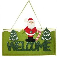 Noel Baba Figürlü Welcome Kapı Süsü