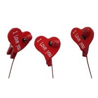 I Love You Yazılı Kalp Not Çubuğu