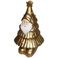 Sarı Çam Ağacı Yılbaşı Mumu Noel Babalı