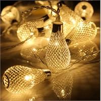 Ekleme Soketli Gün Işığı Renginde 29 Metal Ampül Figürlü Led Işık