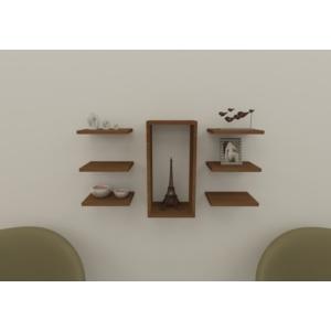 navdecoration athena duvar rafı ve kitaplık - ceviz - ceviz