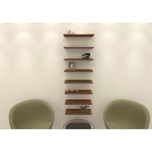 navdecoration stairs duvar rafı ve kitaplık - ceviz - ceviz